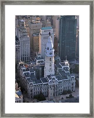 City Hall Broad St And Market St Philadelphia Pennsylvania 19107 Framed Print by Duncan Pearson