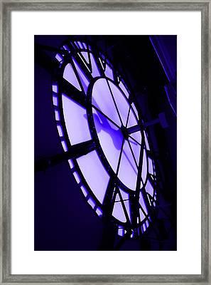 City Hall Clock Face Inside Framed Print