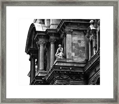 City Hall Edifice - Philadelphia Framed Print by Bill Cannon
