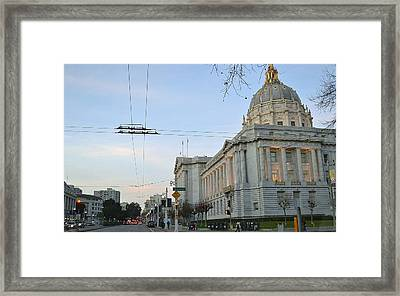 Framed Print featuring the photograph City Hall San Francisco by Rima Biswas