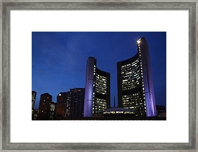 City Hall Toronto Framed Print by Snow White
