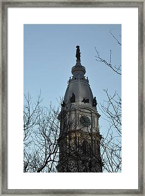 City Hall Tower Philadelphia Framed Print
