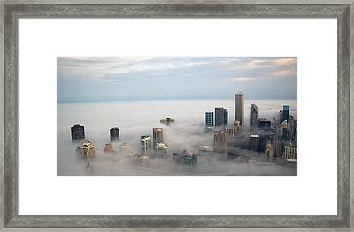 City In The Clouds Framed Print