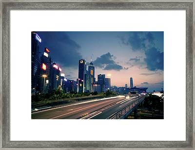 City Light Framed Print by Bbq