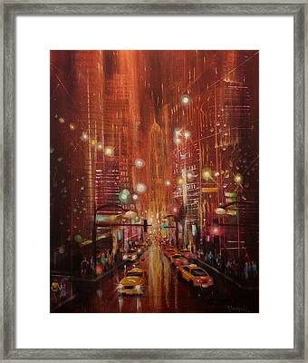 City Lights 2 Framed Print by Tom Shropshire