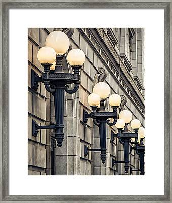 Framed Print featuring the photograph City Lights by Anna Rumiantseva