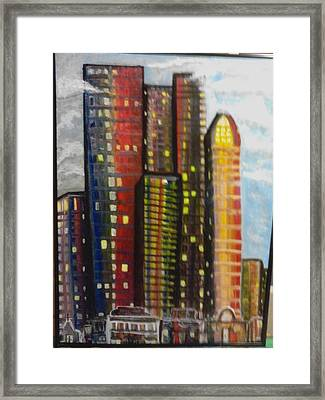 City Lights Framed Print by Connie Carleton