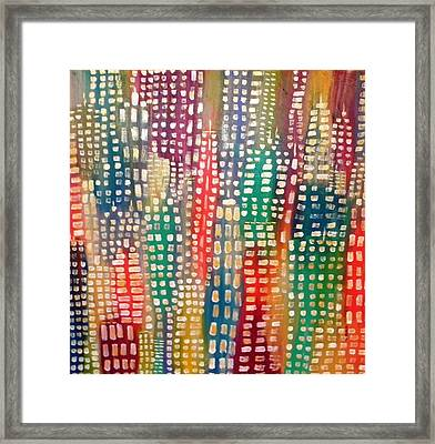 City Lights II Framed Print