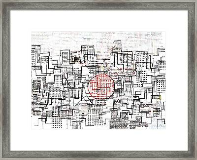 City Lines II  Framed Print