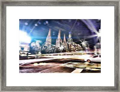 City Moves Framed Print