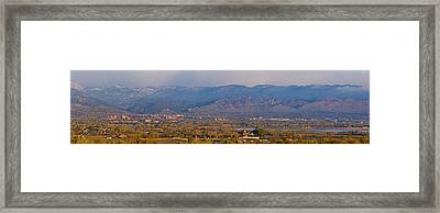 City Of Boulder Colorado Panorama View Framed Print by James BO  Insogna