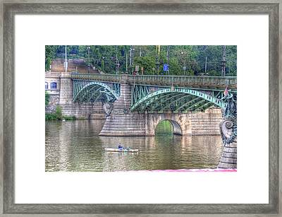 City Of Bridges Framed Print by Barry R Jones Jr