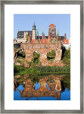 City Of Gdansk In Poland Framed Print by Artur Bogacki