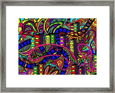 City Of Life Framed Print