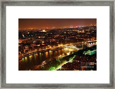 City Of Light Framed Print by Elena Elisseeva