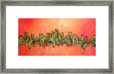City Of Lights Framed Print by Mary Kay Holladay