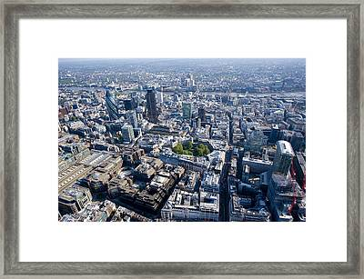 City Of London And Finsbury Circus Framed Print by Jason Hawkes