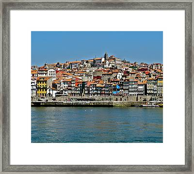 City On A Hill On A River Framed Print by Kirsten Giving