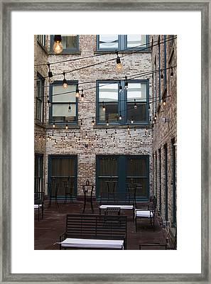 City Patio Framed Print
