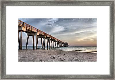 City Pier Framed Print by Sandy Keeton