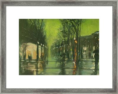 City Rain 6 Framed Print by Paul Mitchell