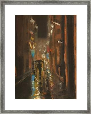 City Rain 7 Framed Print by Paul Mitchell