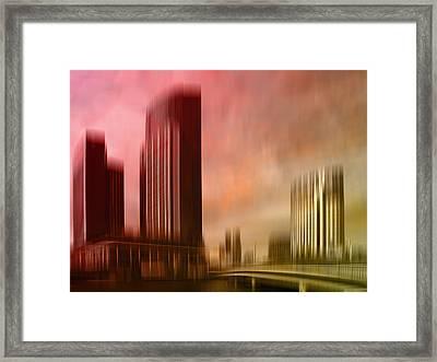 City Shapes Melbourne II Framed Print