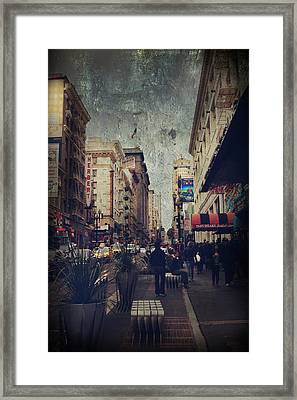 City Sidewalks Framed Print by Laurie Search
