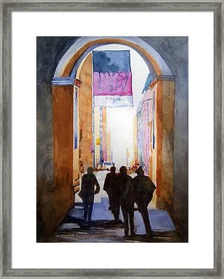 City Silhouette Framed Print by Karen Liebman