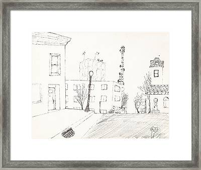 City Street - Sketch Framed Print