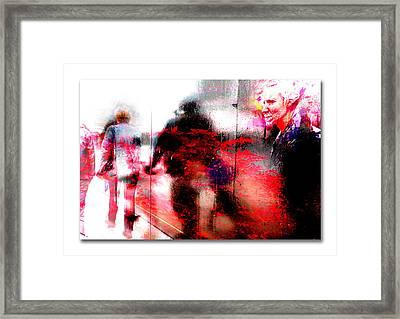 City Street Reflections Framed Print by Mal Bray