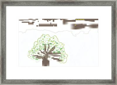 Framed Print featuring the digital art City Tree by Kevin McLaughlin