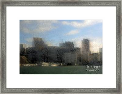 City View Through Window 3 Framed Print by Catherine Lau