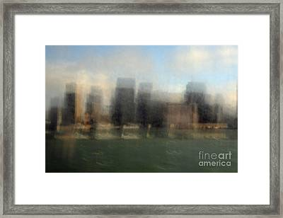 City View Through Window Framed Print by Catherine Lau
