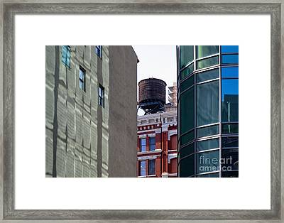 City Water Tower Framed Print by Inti St. Clair