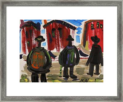 City Workers Come Home Framed Print by Mary Carol Williams