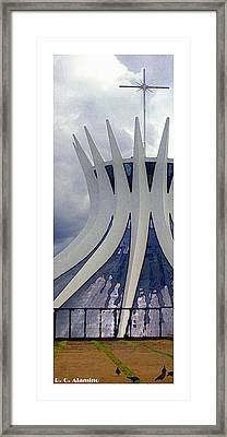 Citymarks Brasilia Framed Print by Roberto Alamino