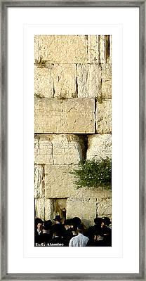 Citymarks Jerusalem Framed Print by Roberto Alamino