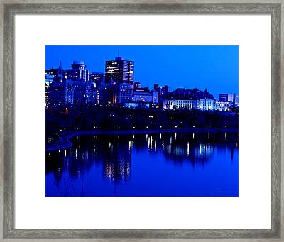 Cityscape Framed Print by Andre Faubert