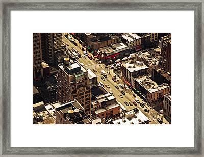 Cityscape Framed Print by Andreas Schott (Bonnix)