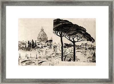 Cityscape In Pairs  Framed Print by Odon Czintos