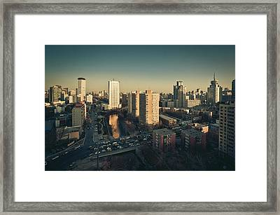 Cityscape Of Beijing, China Framed Print by Yiu Yu Hoi