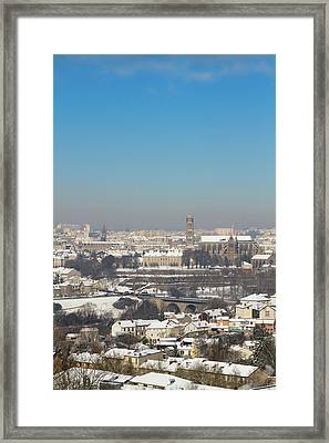 Cityscape Of Limoges Framed Print by I hope you'll like it