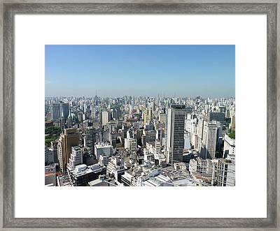 Cityscape Of São Paulo Framed Print by Felipe Borges