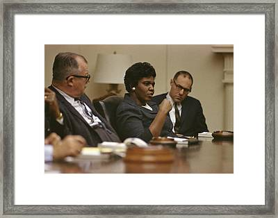 Civil Rights Leaders At A White House Framed Print by Everett