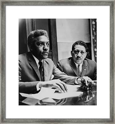 Civil Rights Leaders Bayard Rustin Framed Print by Everett