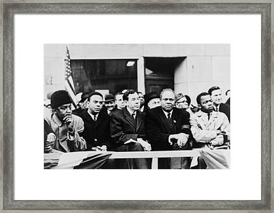 Civil Rights Leaders In Nyc. L To R Framed Print by Everett