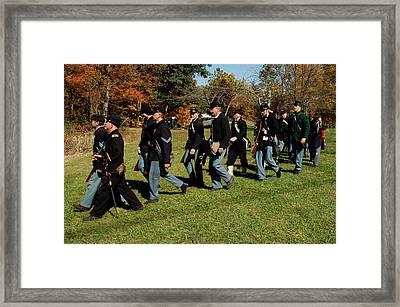 Civil Soldiers March Framed Print by LeeAnn McLaneGoetz McLaneGoetzStudioLLCcom