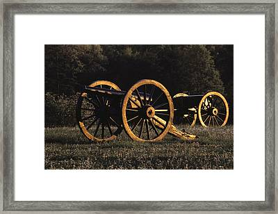 Civil War Cannon And Caisson, Manassas Framed Print