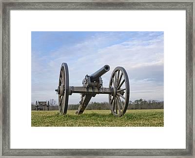 Civil War Cannon At Manassas National Battlefield Park - Virginia Framed Print by Brendan Reals